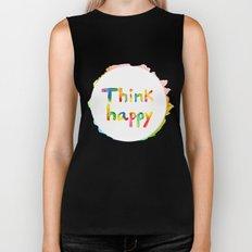Think Happy Biker Tank