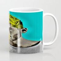 zayn malik Mugs featuring Zayn Malik Pop Art by Indigo Blues