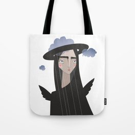 Bad weather angel Tote Bag