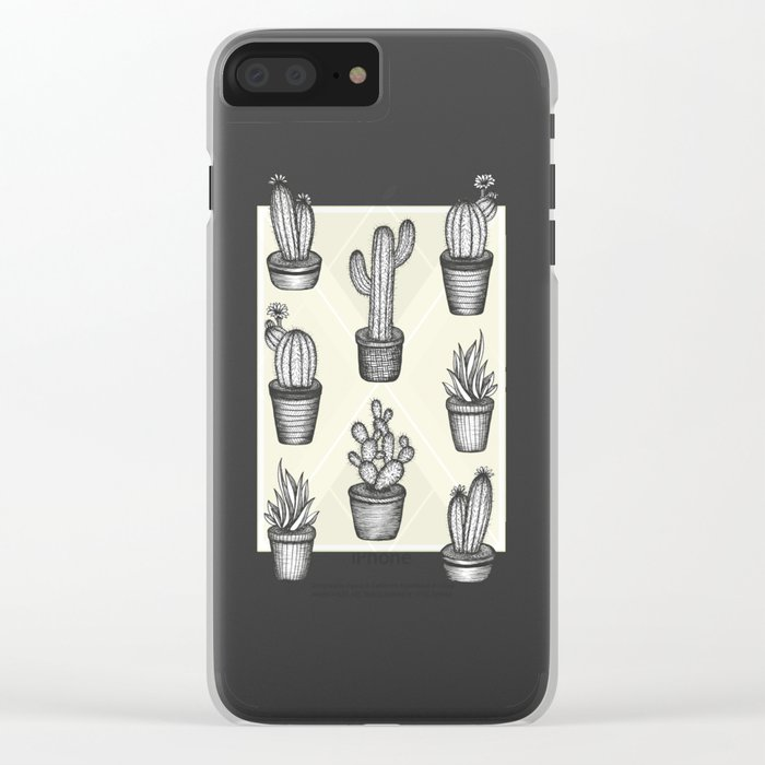 Prickly Friends Clear iPhone Case