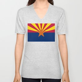 Arizona State flag, Authentic scale & color Unisex V-Neck