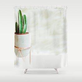 Simple Cactus Shower Curtain