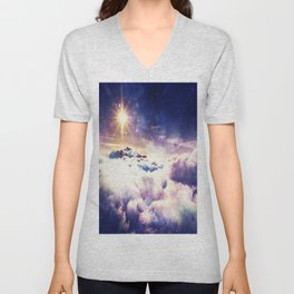 Heavenly Galaxy Clouds Unisex V-Neck