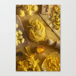 Yellow - the colors of food Canvas Print