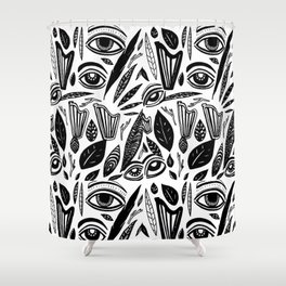 Eye Harp Leaves Shower Curtain
