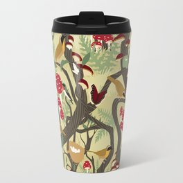 North American Forest Pattern (Natural) Travel Mug