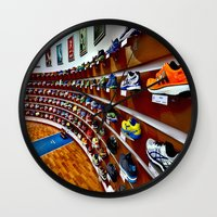 runner Wall Clocks featuring Runner by LeicaCologne Germany