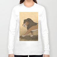lions Long Sleeve T-shirts featuring Running lions by Drawing For Hope