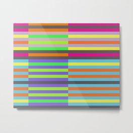 Optic Stripes Metal Print