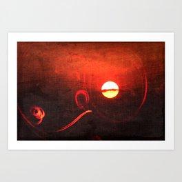Red Sunrise Art Print