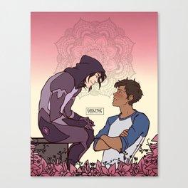 Intense Eye Kissing Canvas Print