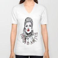 karma V-neck T-shirts featuring Karma by Samantha J Creedon