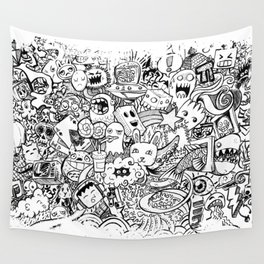 nxo Doodles Wall Tapestry