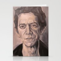 lou reed Stationery Cards featuring Lou by Charles Ellison