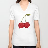 best friends V-neck T-shirts featuring Best Friends by Lili Batista