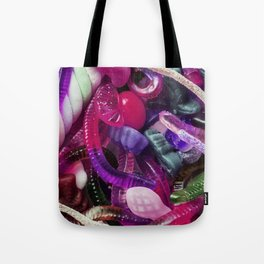 Purple Gummy Candy Tote Bag