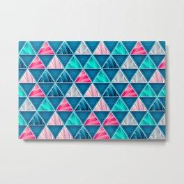 Elegant Geometric Triangles Prism Pattern Metal Print