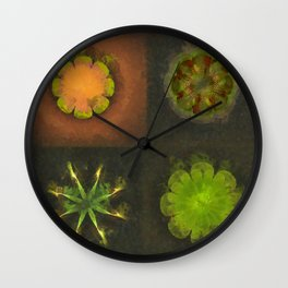 Squirm Bared Flowers  ID:16165-120806-85390 Wall Clock