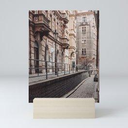 An alley up - Prague czech republic photo   Urban Urbanscape Street Color Cold Photography art print Mini Art Print