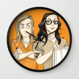 Alex & Piper OITNB Wall Clock