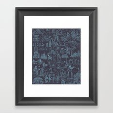 My destinations Framed Art Print