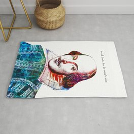 Graffitied Shakespeare Rug