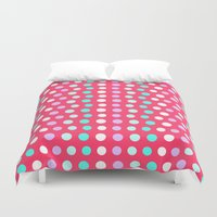 polka dots Duvet Covers featuring Polka Dots by Ornaart