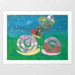 Snailing In The Right Direction Art Print
