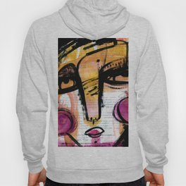 Funky Face 4-912 by Kathy Morton Stanion Hoody
