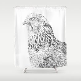 she's a beauty drawing Shower Curtain