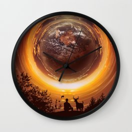 A WORLD OF PEACE Wall Clock