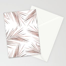 Rose Gold Palm Leaves on White Stationery Cards