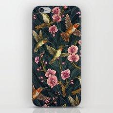 Hummingbird Pattern iPhone & iPod Skin