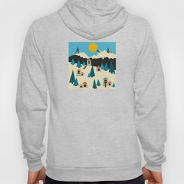 A Sunny Winter Day in the Mountain Village Hoody