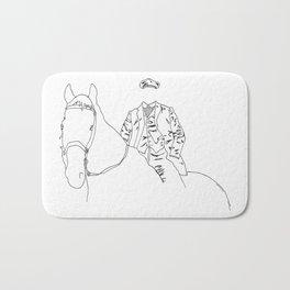 Horse and Fashion Blanc Bath Mat