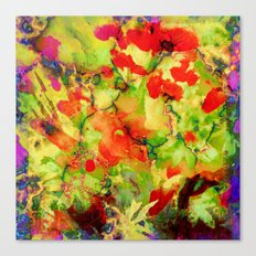 floral and textures Canvas Print