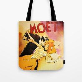 Vintage Moet Champagne Advertising Wall Art Tote Bag