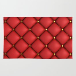 Red quilted texture Rug