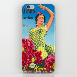 Andalusia - Vintage Travel Poster iPhone Skin