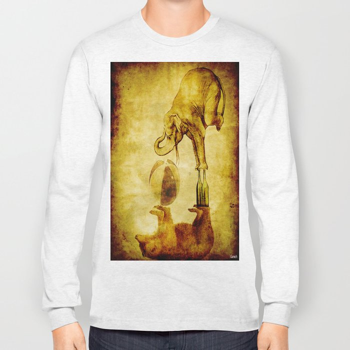 The elephant and the bear have fun Long Sleeve T-shirt