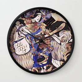Tomoe Gozen- Female Samurai Wall Clock