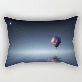Hot Air Balloon Over Water Rectangular Pillow