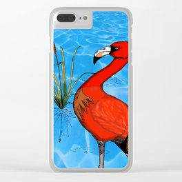 Flamingo Strut Clear iPhone Case