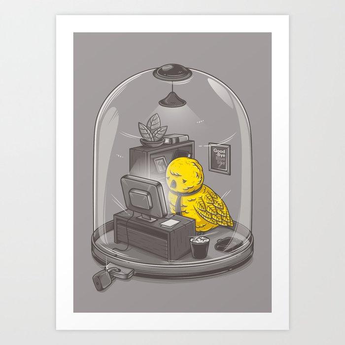 Get a job Art Print