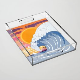 Sunset wave Acrylic Tray