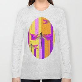 Purple-fuchsia  Dragonflies  Dreamscape Absract Long Sleeve T-shirt