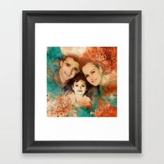 Family Portrait Framed Art Print