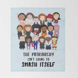 Smash the Patriarchy Throw Blanket