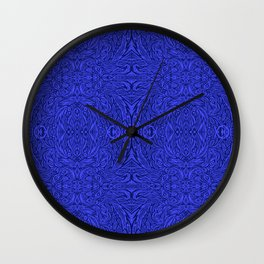 Stare into the Deep Blue Void Abstract Pattern Wall Clock