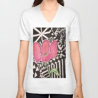 zen V-neck T-shirts featuring Zen by Tiffany Alcide